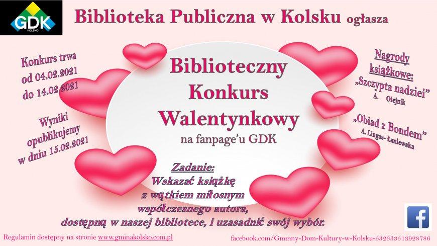 Biblioteczny Konkurs Walentynkowy